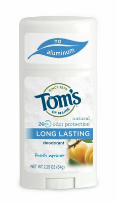 Toms of Maine Natural Long-Lasting Deodorant Stick, Apricot 2.25 Ounce