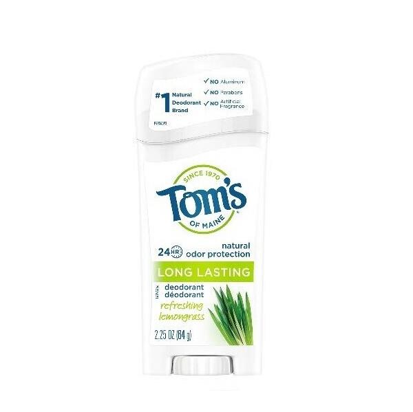 Toms of Maine Long Lasting Deodorant, Refreshing Lemongrass, 2.25 Ounce