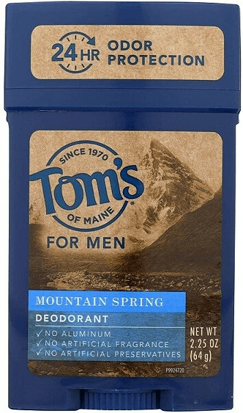 Toms of Maine Natural Mens Deodorant, Mountain Spring, 2.25 Ounce
