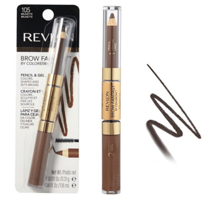 Revlon Brow Fantasy Pencil and Gel, Brunette, 1 Count