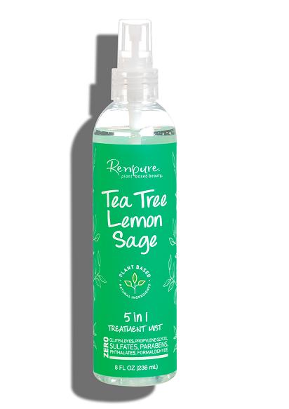 Renpure Tea Tree Lemon Sage 5-in-1 Leave-in Hair Treatment Mist, 8 fl Ounce