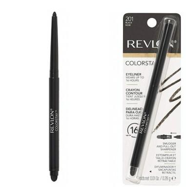 Revlon Colorstay Eyeliner Pencil, #201 Black, 1 Count