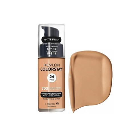 Revlon ColorStay Makeup for Combination/Oily Skin SPF 15, Matte Finish, 300 Golden Beige, 1 Count