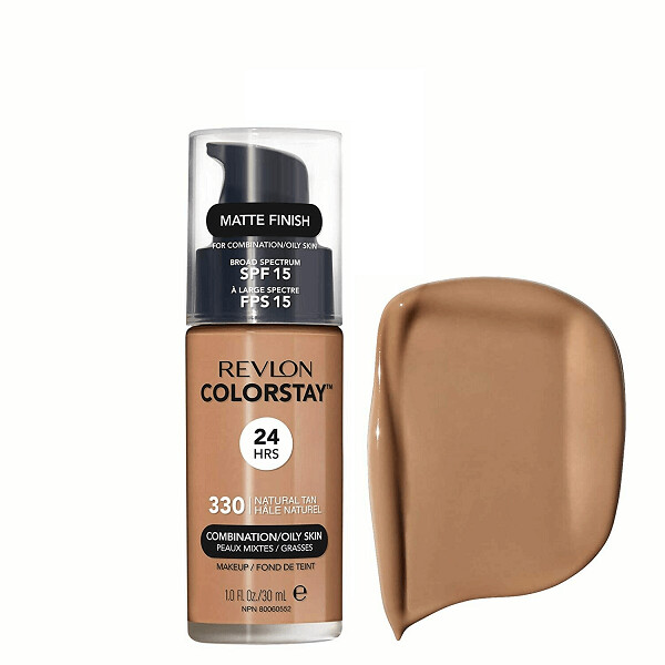 Revlon ColorStay Makeup for Combination/Oily Skin SPF 15, Matte Finish, 330 Natural Tan, 1 Count