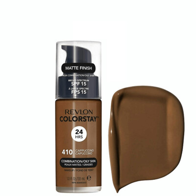 Revlon ColorStay Makeup for Combination/Oily Skin SPF 15, Matte Finish, 410 Cappuccino, 1 Count