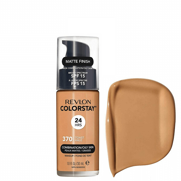 Revlon ColorStay Makeup for Combination/Oily Skin SPF 15, Matte Finish, 370 Toast, 1 Count