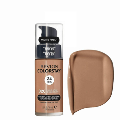 Revlon ColorStay Makeup for Combination/Oily Skin SPF 15, Matte Finish, 320 True Beige, 1 Count