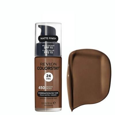 Revlon ColorStay Makeup for Combination/Oily Skin SPF 15, Matte Finish, 450 Mocha, 1 Count