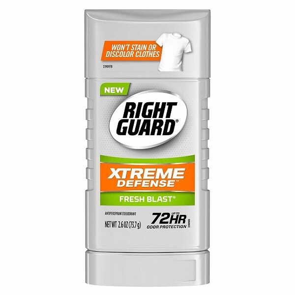 Right Guard Antiperspirant Deodorant Invisible Solid Stick, Fresh Blast, 2.6 Ounce