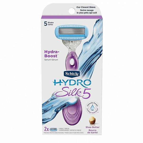 Schick Hydro Silk Razor for Women, Includes 1 Razor, 2 Blade Refills