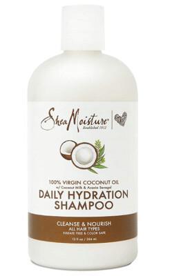 Shea Moisture 100% Virgin Coconut Oil Daily Hydration Hair Shampoo, 13 fl Ounce