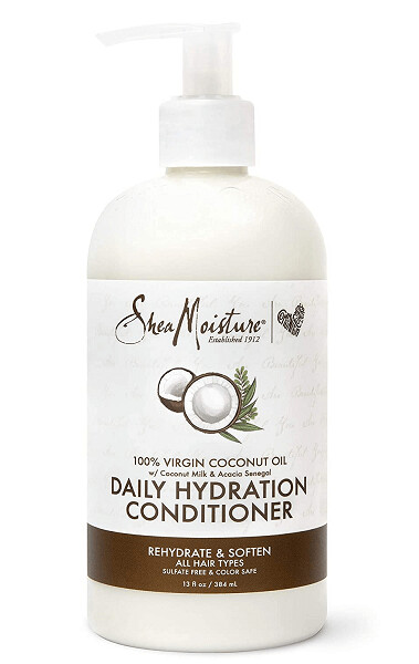 Shea Moisture 100% Virgin Coconut Oil Daily Hydration Hair Conditioner, 13 Ounce