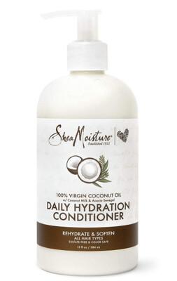 Shea Moisture 100% Virgin Coconut Oil Daily Hydration Hair Conditioner, 13 Ounce