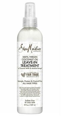 Shea Moisture 100% Virgin Coconut Oil Leave-in Treatment, 8 fl Ounce