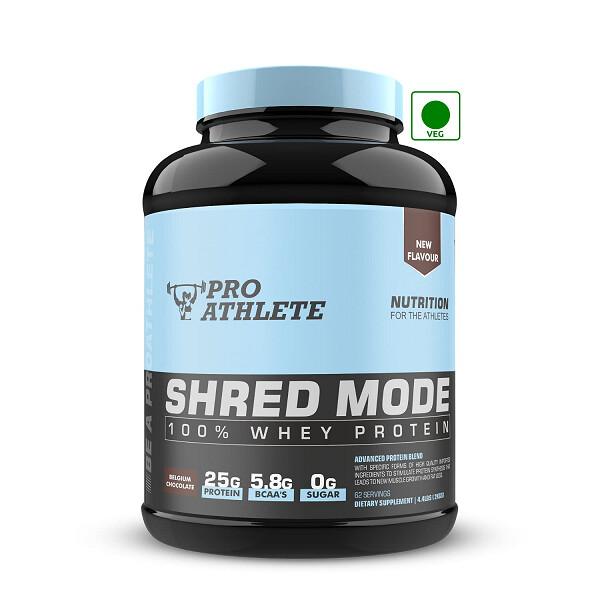 ProAthlete Shred Mode 100% Whey Protein, Belgium Chocolate, 2 Kg