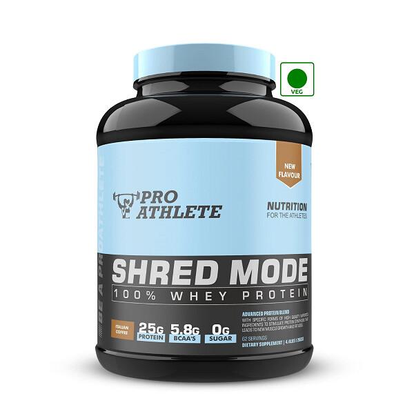 ProAthlete Shred Mode 100% Whey Protein, Italian Coffee, 2 Kg