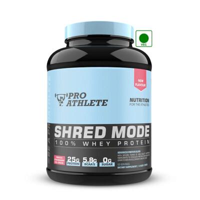 ProAthlete Shred Mode 100% Whey Protein, French Strawberry Icecream, 2 Kg