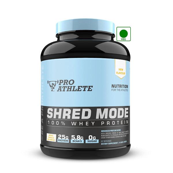ProAthlete Shred Mode 100% Whey Protein, Royal Vanilla Icecream, 2 Kg