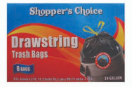 30 Gallon Drawstring Bag 8 Count