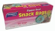 Zipper Seal Snack Bag 50 Count