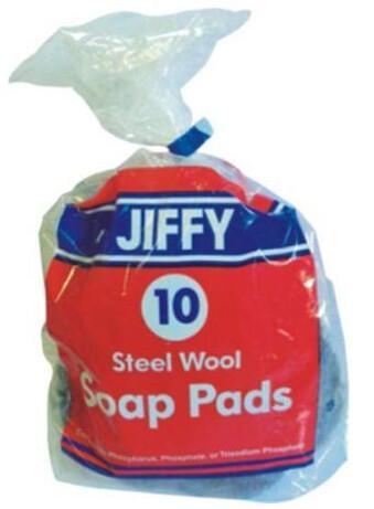 10 Count Soap Pad Steel Wool