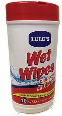 Wet Wipes Antibacterial 40 Count