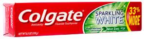Colgate Toothpaste 2.5oz Mint Zing Sparkling