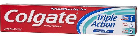 Colgate Toothpaste 2.5oz Triple Action