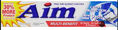 Aim Toothpaste 2.5oz Ultra Mint Paste