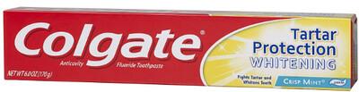 Colgate Toothpaste 2.5oz Whitening Tartar Protection
