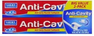 Lucky Toothpaste 2pk Anti-Cavity