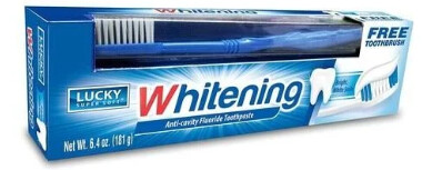 Lucky Toothpaste with Toothbrush Whitening