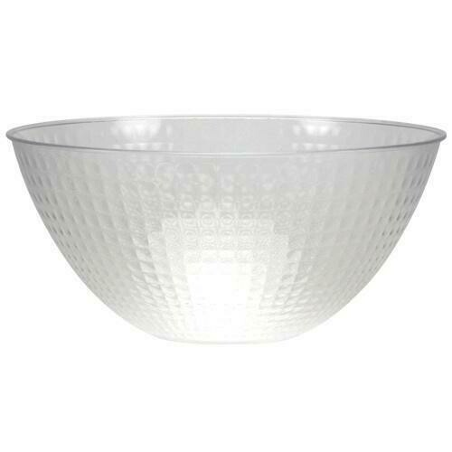 Clear Heavy Weight Plastic Serving Bowl