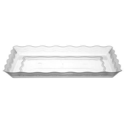 Rectangular Heavy Weight Plastic Tray