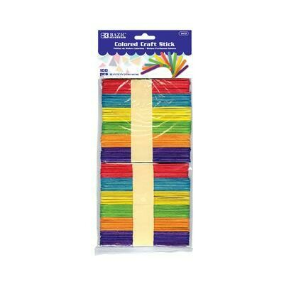 Colored Craft Stick 100 count