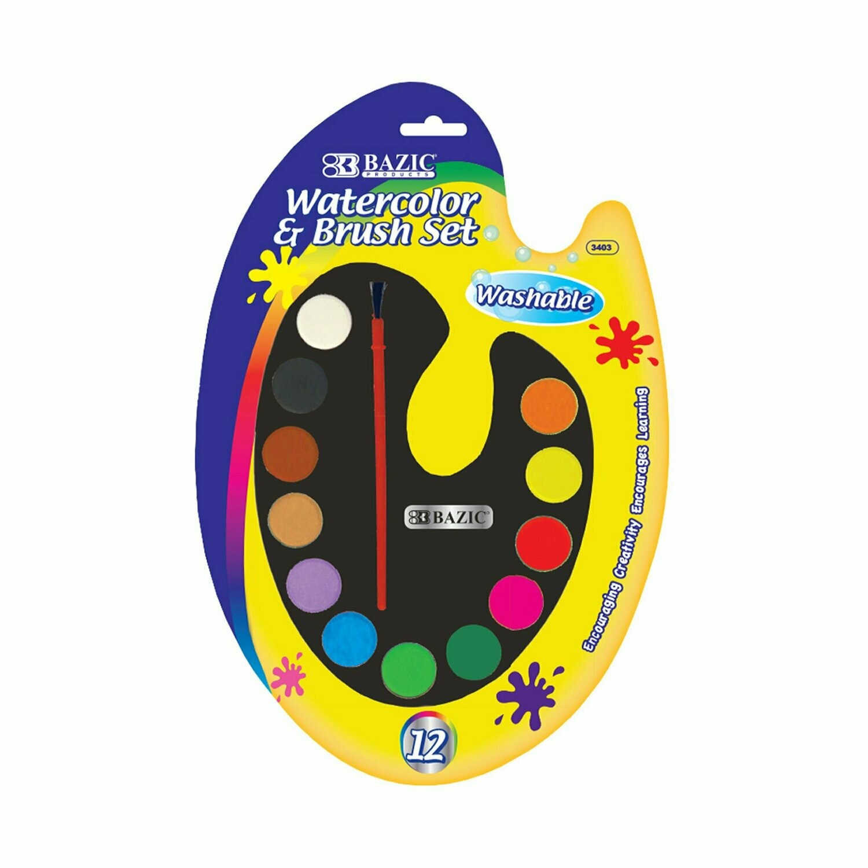 Watercolor & Brush Set
