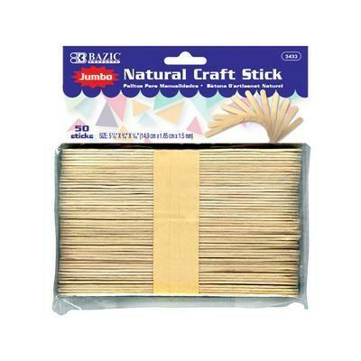Jumbo Natural Craft Stick 50 count