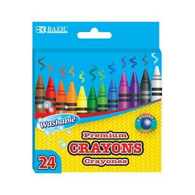 Washable Crayons 24pack