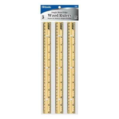 12 inch Wooden Ruler