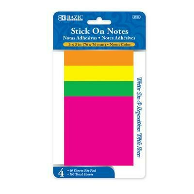 Neon Stick On Notes