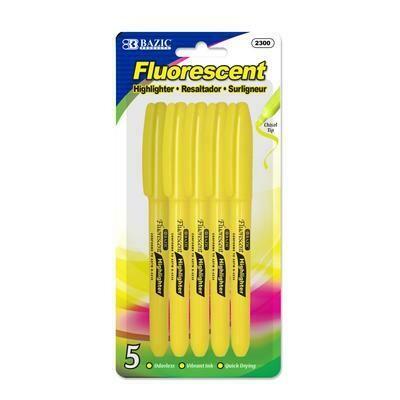Yellow Fluorescent Pen Style Highlighter