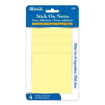 Yellow Stick On Notes