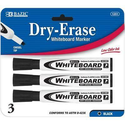 Black Chisel Tip Dry-Erase Marker