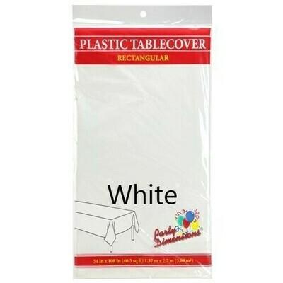 Plastic Tablecloth Rectangular (Assorted Colors)