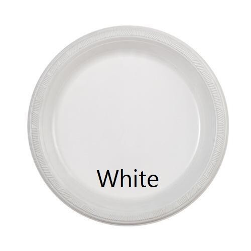 """Plastic Plate 9"""" (Assorted Colors)"""