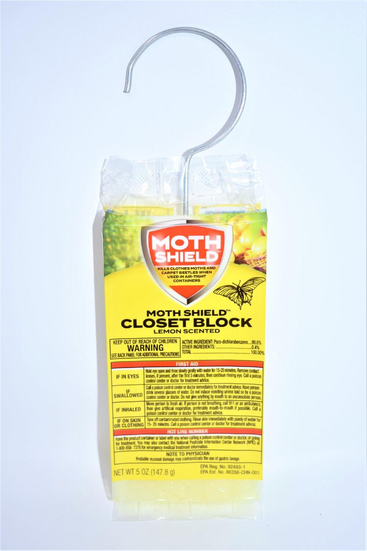 Closet Block Lemon 6 Oz. Moth Shield
