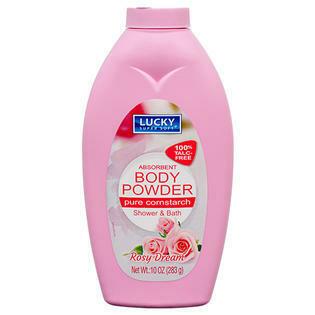 Cornstarch Body Powder 10oz Rose
