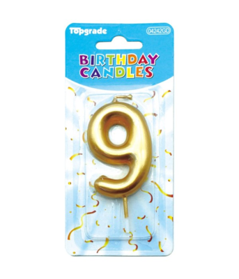 Gold Candle Number 9