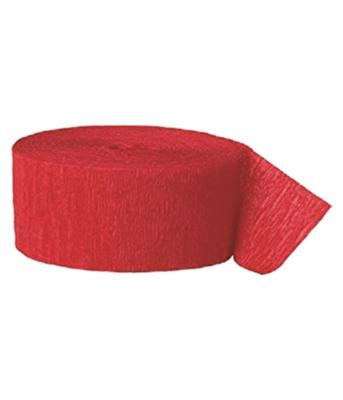 Red Crepe Streamer