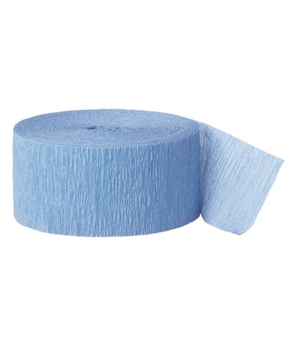 Light Blue Crepe Streamer